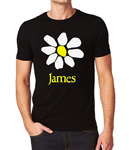 James Band Fresh As A Daisy Flower La Petite Mort Logo Men's T-Shirt XX-Large Black