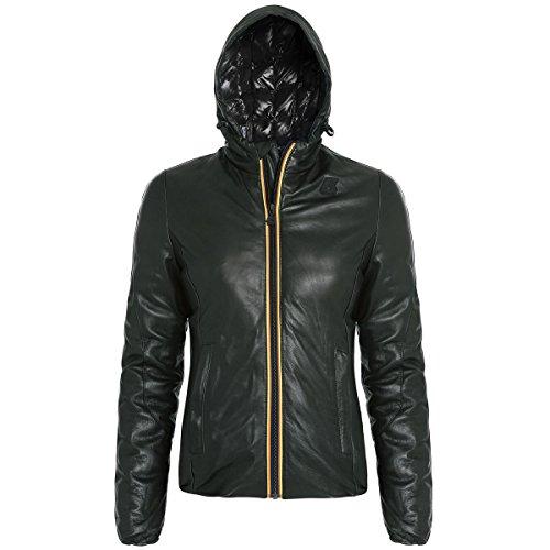 K-Way K002II0 - Abrigo De Plumas para mujer Steel-Black