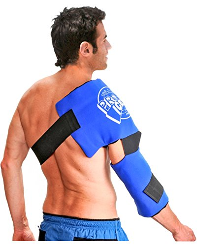 Adult Shoulder/Elbow Cold Therapy Ice Wrap - Long Lasting Pain Relief from Spasms & Swelling. Maintains Consistent Temperature. Built to Give Comfortable (Pro Arms)