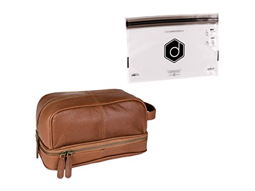 Dwellbee Classic Leather Toiletry Waterproof