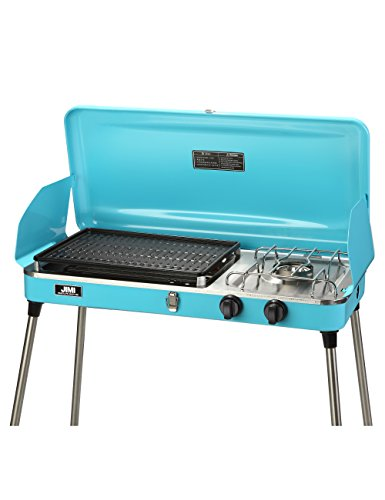 Outdoor Gas Grill by JIMI Camping Series Portable Cooking 2 Burner