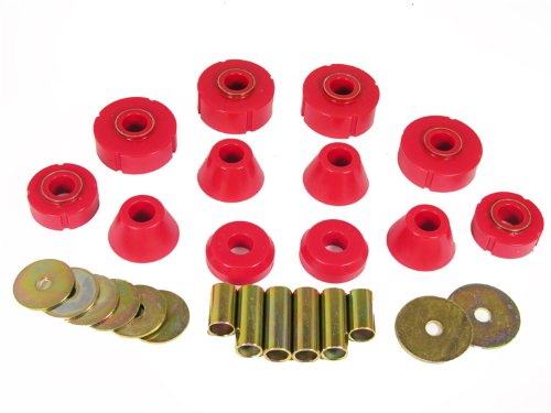 Prothane 7-101 Red Body and Standard Cab Mount Bushing Kit - 12 Piece