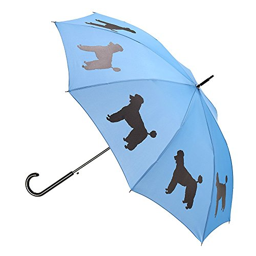 Poodle Premium Rain Umbrella (Blue/Black) By San Francisco Umbrella (Poodle Umbrella)