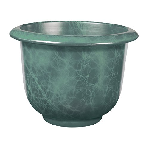- Novelty Round Moonstone Planter, Teal, 14-Inch