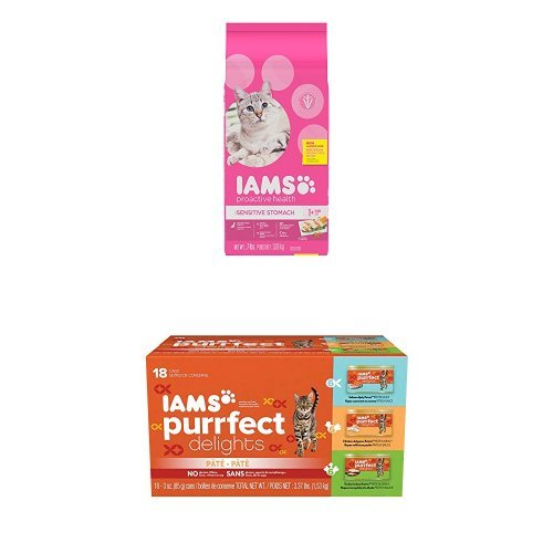 IAMS Proactive Health Sensitive Stomach Dry Cat Food and IAM