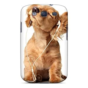 Galaxy S3 Case Cover - Slim Fit Tpu Protector Shock Absorbent Case (cocker Puppy) by lolosakes