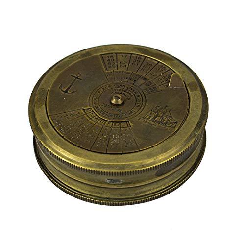 Collectibles Buy Decorative 100 Year Calendar Anchor Brass Nautical Compass Xmas Gifts ()