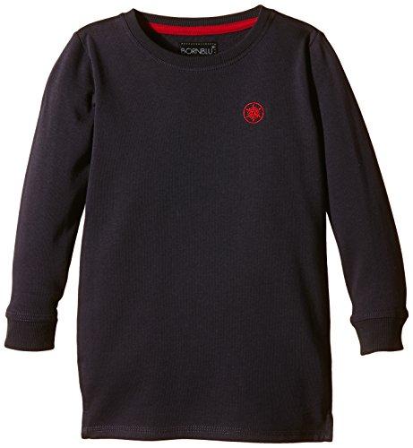 bornblu Jungen Sweatshirt, Gr. 110, Blau (Navy/Red)