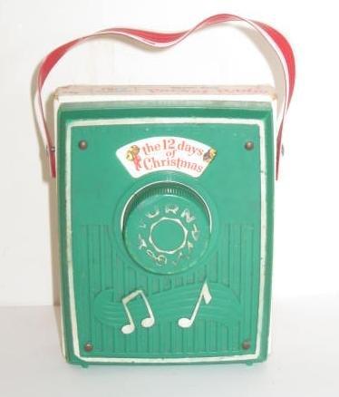 1973 Vintage Fisher Price Music Box Pocket Radio ~ The 12 Days of Christmas