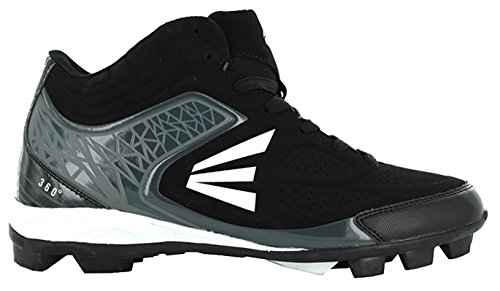 Easton 360 Mid Youth Rubber Baseball Cleats Black/Charcoal (2 M US Little Kid, Black/Charcoal)