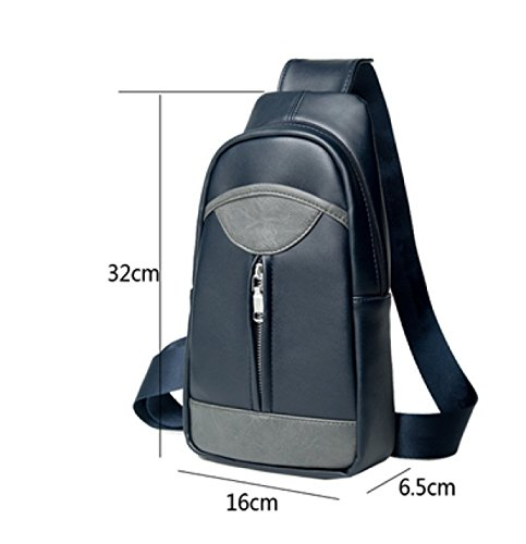 Men Casual Shoulder Cross Laidaye Chest Oblique Business Package Black Bag dqORwUH