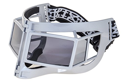 LINDA FARROW KTZ Fashion Geometric Mask White Ski Polarized KTZ9 Sunglasses (grey, - Sunglasses Ktz