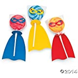 Fun Express - Superhero Swirl Lollipop Set - Makes Pops (2-Pack of 12)