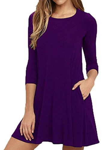 Purple Cotton Dress - 1
