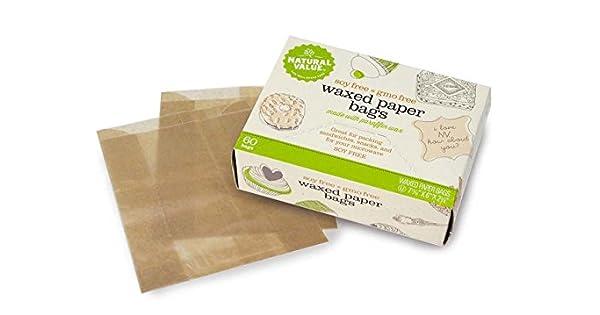 Amazon.com: Valor Natural bolsas de papel encerado – -60 ...