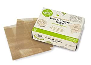 Amazon.com: Natural Value Waxed Paper Bags -- 60 Bags