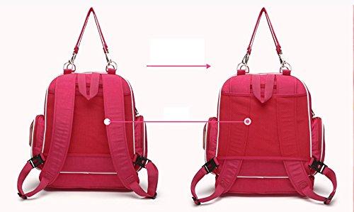 Forme los hombros multi-funcionales bolso antirrobo de la momia, bolso de la madre, madre y bebé mueven el morral del recorrido, bolso del recorrido del bebé ( Color : Rosa Roja ) Khaki