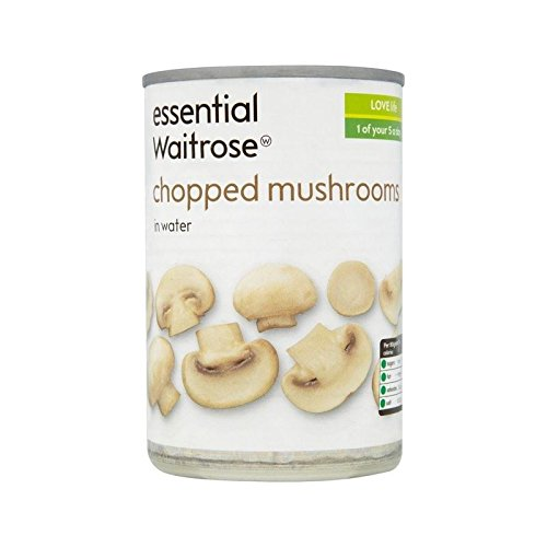 Chopped Mushrooms essential Waitrose 290g - Pack of 6 by WAITROSE