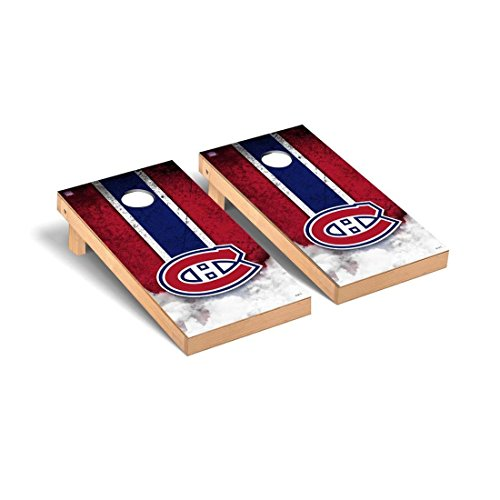 (Victory Tailgate Montreal Canadiens NHL Regulation Cornhole Game Set Vintage Version)
