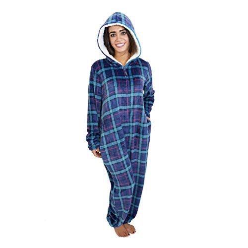 Cherokee Women's Onesie Sleepwear, Plaid Two, M