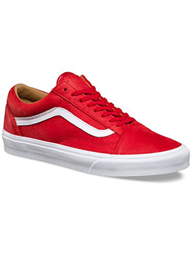 Vans Herren UA Old Skool Sneaker Rot (Premium Leather Racing Red/true White)