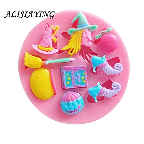 1 piece 1Pcs Halloween Witch hat shoes Silicone MoldSugarcraft Cake Decorating Toolspumpkin Fondant Chocolate Molds Cake Mould D0140