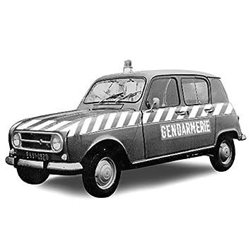 Amazon.com: Norev NV510049 1:43 Scale Renault 4 1968 Gendarmerie Peloton dAutoroute Model Car: Toys & Games