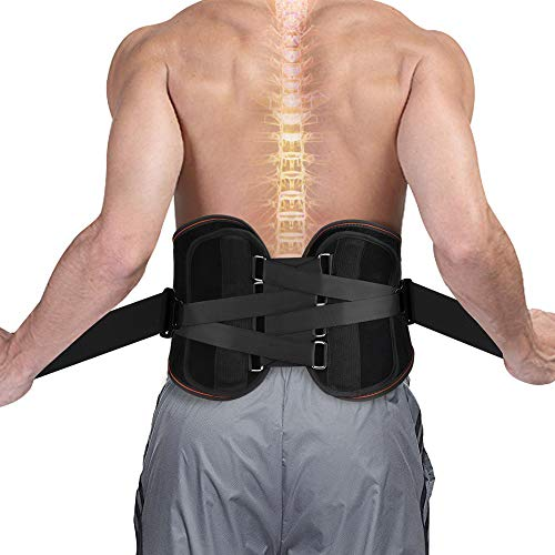 SZ CLIMAX Lumbar Waist Back Brace Support - Compression Weight Belt for Men Women - Back Support for Sciatica, Scoliosis and Herniated Disc ()