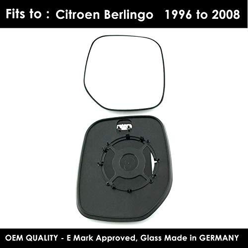Black Door Mirror// Wing Mirror // Complete Mirror RH Driver Side Citroen Berlingo 1996,1997,1998,1999,2000,2001,2002,2003,2004,2005,2006,2007,June 2008 Cable Control Manual