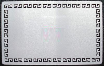 Metal Pattern Edge Business Card Grey Silver Sublimation Blanks Heat 100 pcs. -