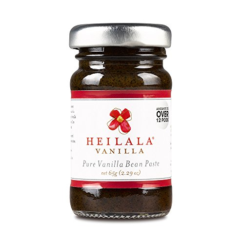 Heilala Vanilla Pure Vanilla Bean Paste (2.29 oz) With Whole Vanilla Seeds, All Natural Ingredients, Award Winning & Superior to Mexican or Tahitian Paste, Gluten Free