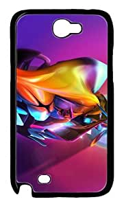 3D Colorful Abstract Colorful Effect Polycarbonate Hard Case Cover for Samsung Galaxy Note 2/ Note II/ N7100 BlackKimberly Kurzendoerfer