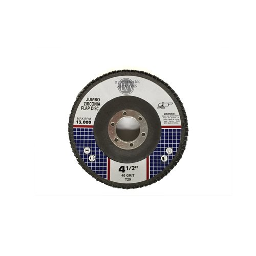 4.5x7/8 Jumbo Zirc Flap Disc Grinding Wheel 40 Grit - 100 Pack by Benchmark Abrasives