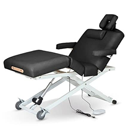 Super Comfort Durable Electric Massage Table with Accessories Salon Spa Gym Body Work Therapy (Cream) GreenLife