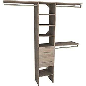 ClosetMaid 1936440 SuiteSymphony Modern 16 Inch Closet Organizer With  Shelves And 2 Drawers,