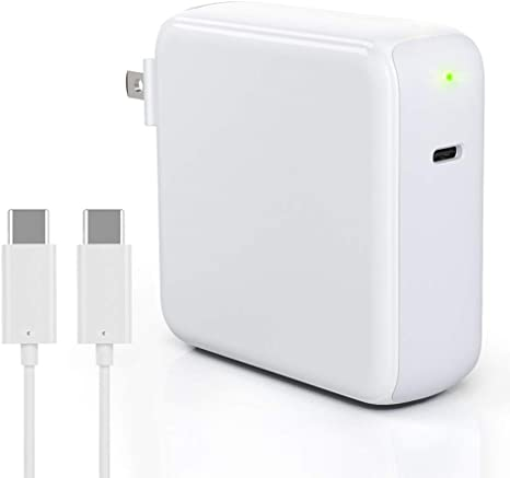 87W USB-C Charger for MacBook Pro 15/13 inch, ZeaLife USB-C PD Wall Charger Power Adapter for Thunderbolt Charger Port MacBook Retina 12 inch, MacBook ...