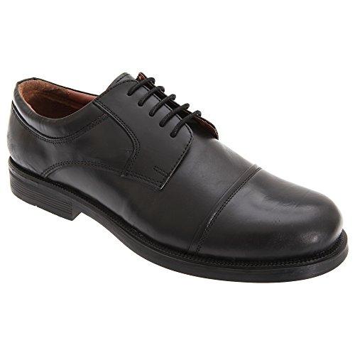Scimitar Mens Capped Gibson Lederen Schoenen Zwart