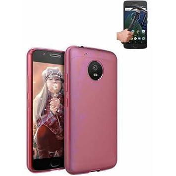 Funda TPU Lisa Rosa Motorola Moto G5S 5.2 Pulgadas + Protector ...