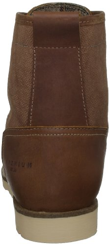amp; Herren 12059931 Brown PREMIUM Fashion Leather Braun JONES TRADE JACK Sneakers UnXqdd
