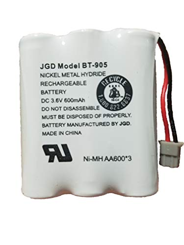 JGD BT-905 BT-800 BBTY0663001 Battery Compatible with Uniden BT905 BT800 BT-1006 BP-905BBTY-0444001 BBTY-0449001 Panasonic P-P501 P-P508 at&T 200 24032 Cordless Telephones ()