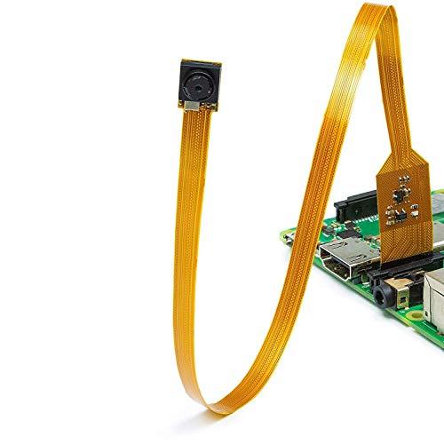 (Arducam Noir Spy Camera for Raspberry Pi - Miniature 6mm Neck Width with Flex Cable, 5MP OV5647 1/4 Inch Sensor, Support Raspberry Pi A/B/B+/2/3/3B+ )