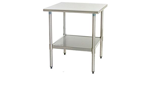 24 X 48 Stainless Steel Work Table With Under Shelf Nsf Certified Kitchen Island Food Prep Laundry Garage Utility Bench Industrial Scientific Amazon Com