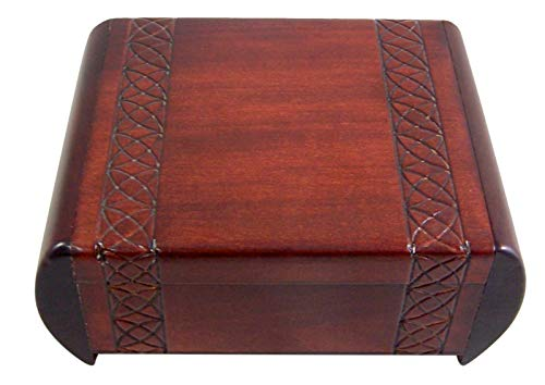 Keepsake Secret (Traditional Dark Linden Wood Design Secret Box For Jewelry and Keepsakes)