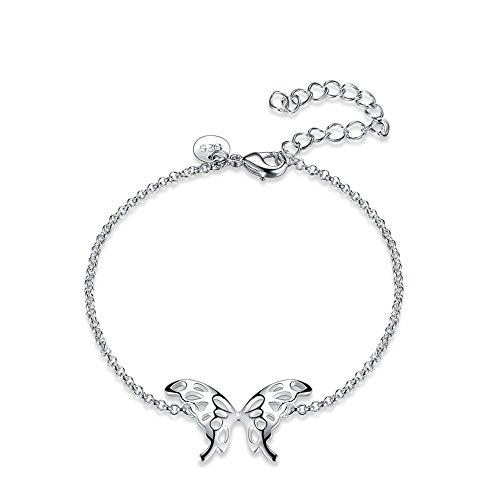 or Girls Dangling Butterfly Bracelet Prime for Charm Rhinestone Women Jewelry ()