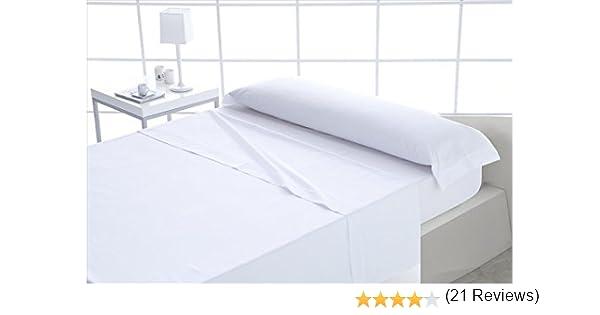 ForenTex - Juego de sábanas, (X-Blanco), 100% algodón, Blancas, Cama de 150 cm, Pieles sensibles, lo Natural y ecológico es Siempre un acierto, ...