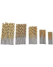 50 stuks mini handboren tool, vijf soorten hoge snelheid staal plating rechte handboor voor metaal, hout boor sets kleine boor.