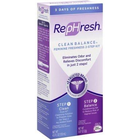 RepHresh Clean Balance Feminine Freshness 2-Step Kit (2 Pack)