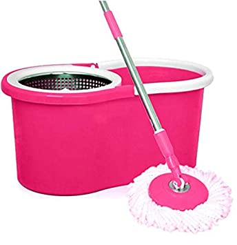 AARNEIL Steel Basket 360 Spinning Bucket MOP with Extra Refill