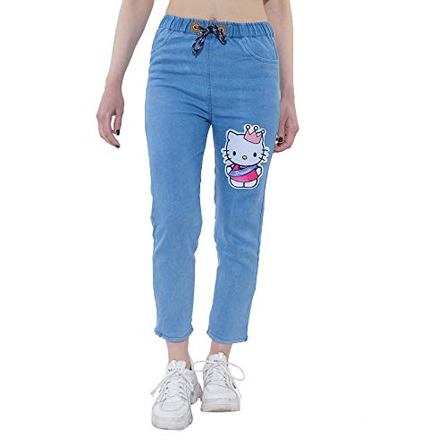 Adiba Trendy and Stylish Womens Jogger Fit Printed Jeans Pant for Womens