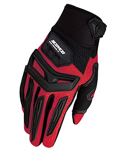 CRAZY AL'S SCOYCO MX54 Gloves Professional Motorcycle Motocross Racing Full Finger Gloves Sportswear Cycling Outdoor Sports Gloves Yellow Red White Grey Green M/L/XL/XXL (XXL, Red)